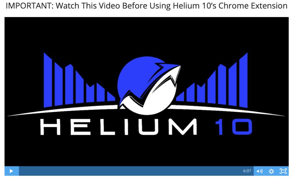 Helium 10 video
