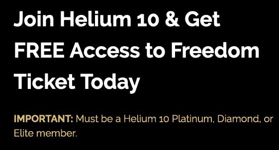 Helium 10 Free Offer