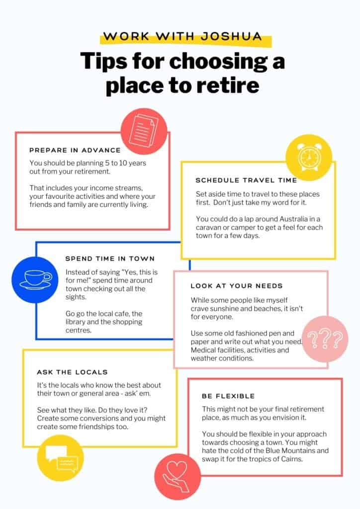 How to choose an Australian place to retire.